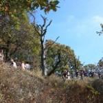 Účastníci turistického pochodu na Rokytovej