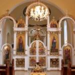Ikonostas v chráme sv. Cyrila a Metoda